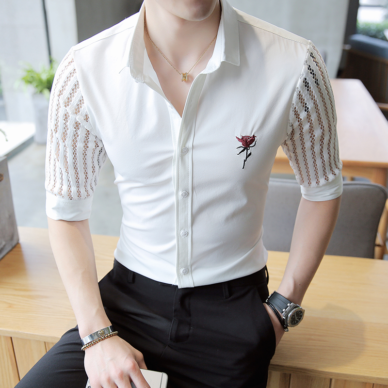 Aliexpress.com  Buy 2017 Mens See Through Shirts Man Lace Shirts White Transparent Shirts Mesh ...