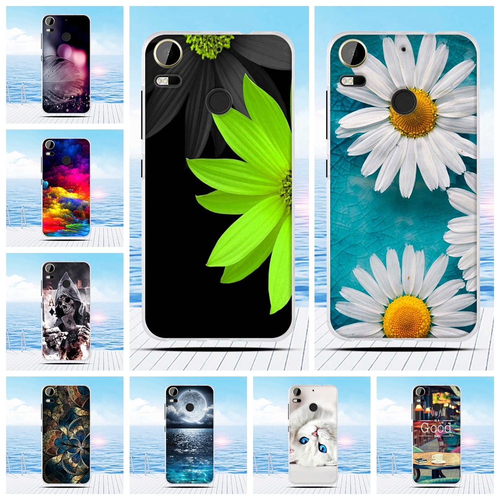 For HTC Desire 10 pro Case 5.5'' Flower Relief Printing Back Cover TPU Soft Silicone Case For HTC Desire 10 pro Coque Capa Funda