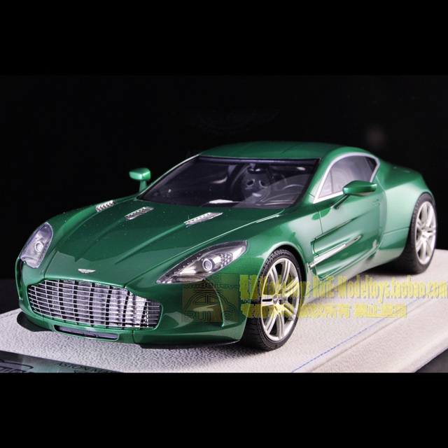 Tecnomodel Version Of The 1:18 Aston Martin AstonMartin ONE77 Green Car  Model