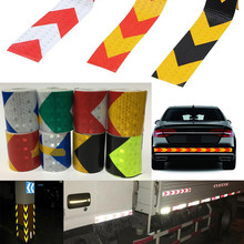 5cm*300cm Arrow Reflective Tape Safety Caution Warning Adhesive Sticker For Truck Motorcycle Bicycle Car Styling