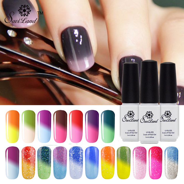 Saviland Mood Color Temperature Change Nail Gel Thermo Varnish Gel ...