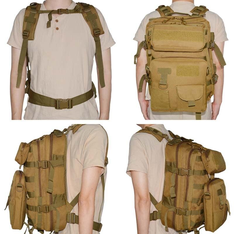 Sac à dos militaire tactique militaire en plein air sac à dos à bandoulière armée Molle sac à dos étanche EDC pour la randonnée en plein air Camping chasse