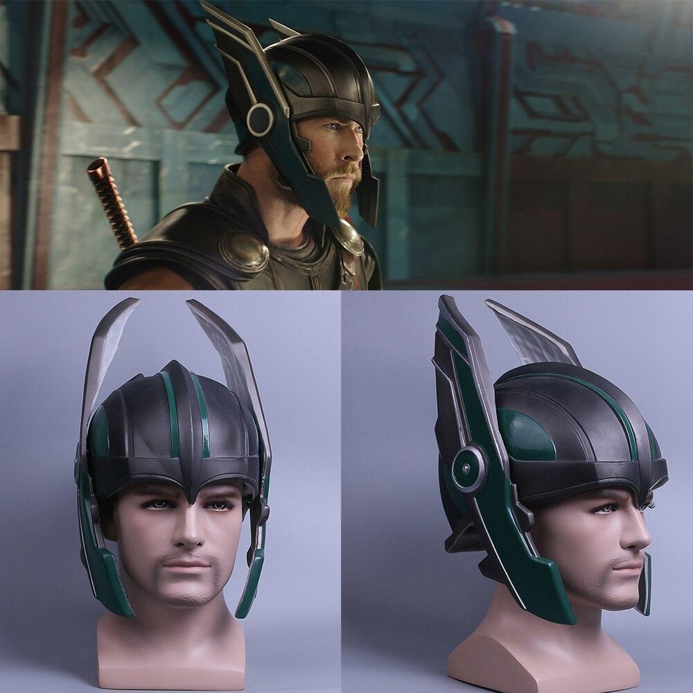 Helmet Thor 3 Ragnarok Helmet Cosplay Thor Helmet PVC Mask Handmade Halloween Mask Caps New
