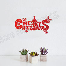 YOYOYU Wall Decal Creative Quote Christmas Door Decals decorative vinyl wall stickers for home DIY decor Removable Mural ZW48