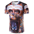 2016 Nuevos Hombres de la Llegada Del Verano de la camiseta 3D Impreso Diseño Michael Jackson Moda hombres de manga corta camisa de impresión de la personalidad