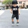 2017 Cabritos de La Manera Ropa de Los Muchachos de Los Niños Sistemas de la Ropa de Hip Hop Roupas Infantis Menino Traje para el Bebé del Verano Chándal Roupa