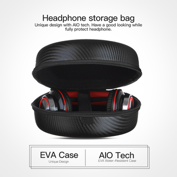 Hard Headphone Case EVA Carrying Headphone Bag Travel Carrying Case Storage Ultimate Protection Large Space  for Sennheiser Sony