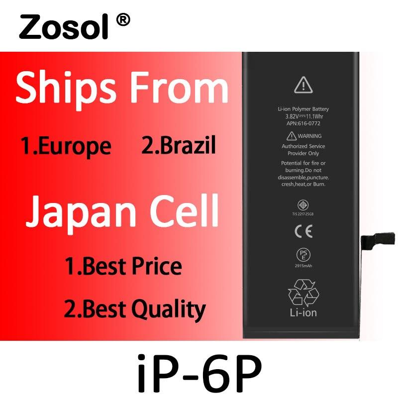 10pcs lot Best Quality 0 zero cycle Battery for iPhone 6 Plus 6Plus 6 6g 2915mAh
