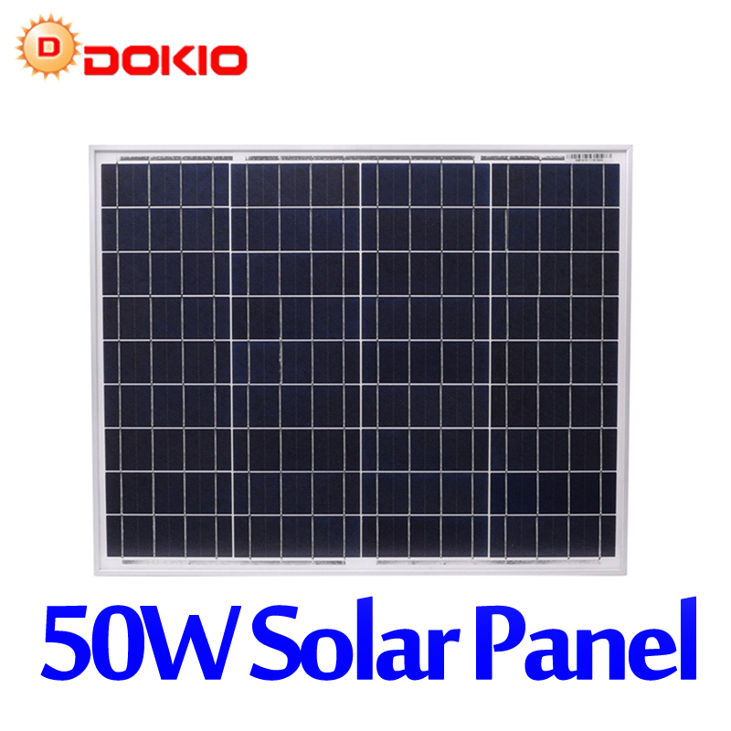 Dokio Brand 50W Polycrystalline Silicon Solar Panel China 18V 530x660x25MM Size Panel Solar Paneles solares China #DSP-50P dokio brand solar panel china 100w monocrystalline silicon 18v celulas solares silicio top quality solar battery solar charger