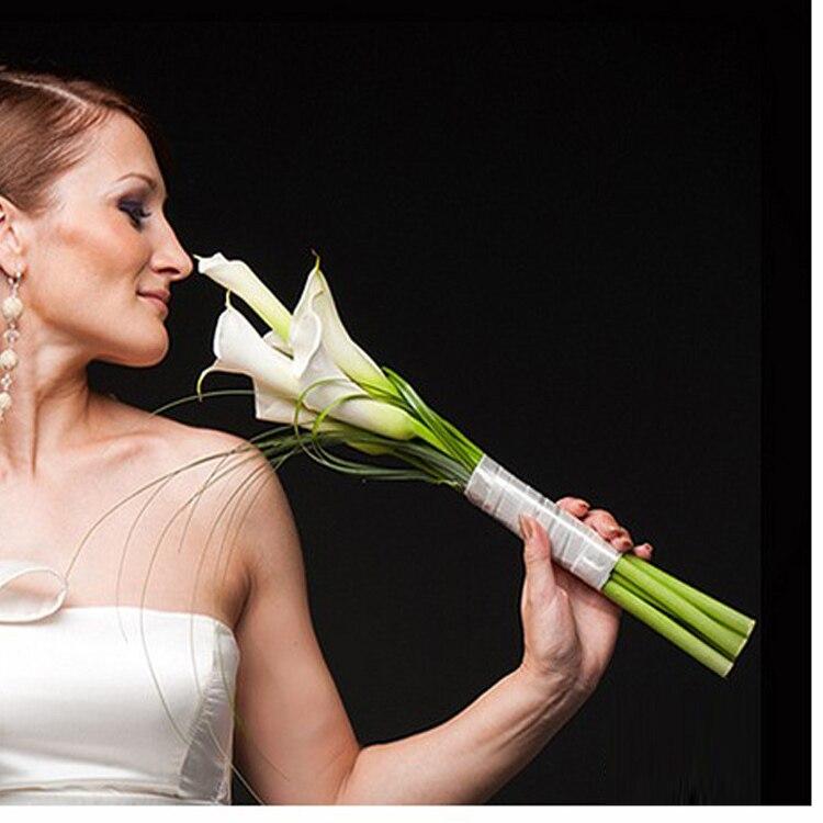 Acheter Pu fleur artificielle fleur de mariage mariée tenant des fleurs calla lily 6 bountyless de flower calla lily fiable fournisseurs