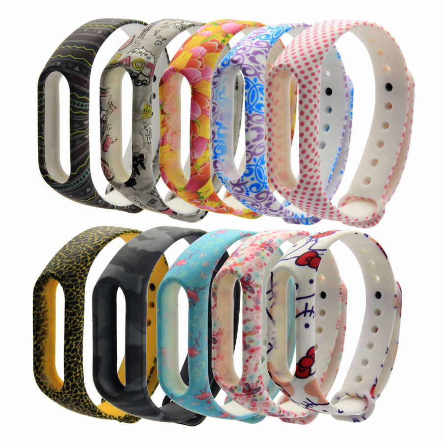 Colorful Miband 2 strap Silicone band2 wrist strap replacement for xiaomi Mi band 2 smart Bracelet wristbands