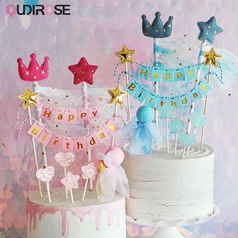 Счастливое украшение для именинного торта семейная вечеринка для мальчика день рождение украшение для свадебного торта короткое пальто Новогоднее Черное золото торт наружное декорирование