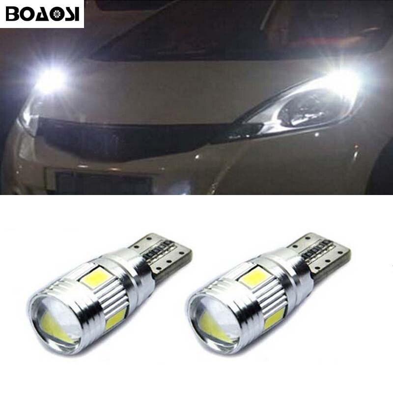20 T10 194 192 5050 LED Parking Light Bulb Red For Toyota Honda Subaru Mazda Kia