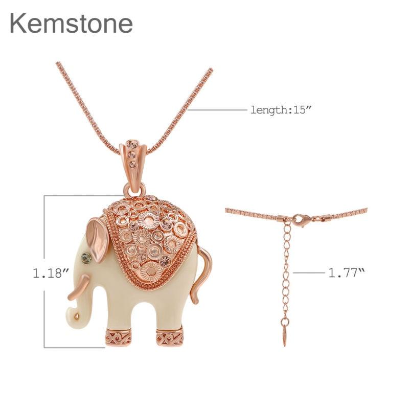 Колие от секси слонове от Kemstone и - Модни бижута - Снимка 6