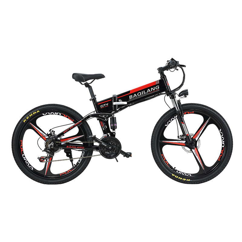 26inch Fold electric mountian bicycle Full suspension 48V350W Hybrid Electric Bicycle Fr ...
