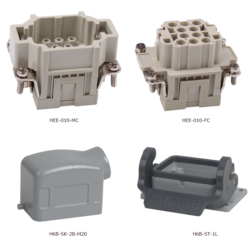 HEE-010 hot sale 10 pin HEE series grey heavy duty power connector insert hood and housing телефон aastra 7187a plus d grey dbc18721 010