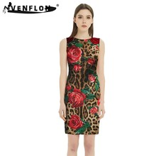 Summer Women Dress 2019 Casual Elegant Sexy Sleeveless O-neck Floral Bodycon Dress Elegant Short Party Dresses Plus Size(China)