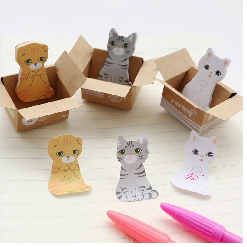 100pieces/lot Hot wholesale Mini Cute Cartoon Kawaii Cats and Dogs Memo pad Box Sticky Notes for Kids Gifts Post It Note 01801