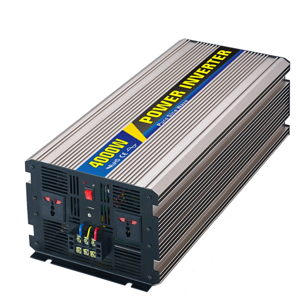 4000w Pure Sine Wave Inverter for Solar Panel  12V 24VDC 48VDC To 110V 220V 1500w 24vdc to 220vac pure sine wave inverter with 10a ac charge for solar panel