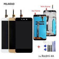 Original For Xiaomi Redmi 4A LCD Display Touch Screen Digitizer Assembly With Frame Repair Replacement 5
