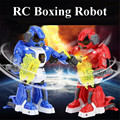 1PCS 2.4G New Remote Control Robot Intelligent RC Balanced Robot Boxing Battle Robot with Light and Music Electric Toy Gift