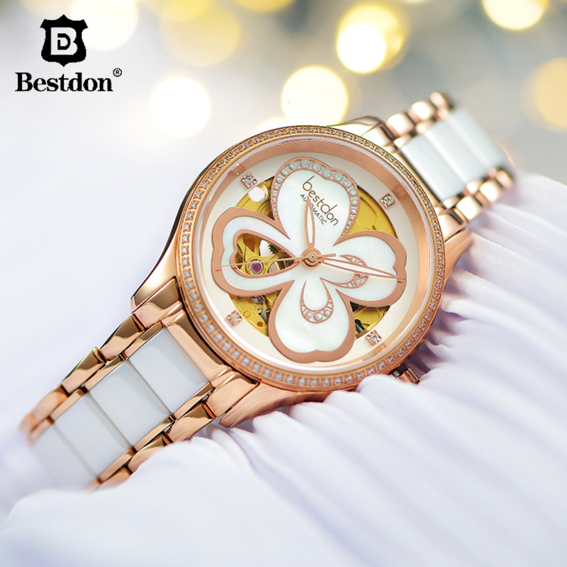 Bestdon Luxury Switzerland Brand Women Watch Automatic  Mechanical Sapphire Watches Ceramics Waterproof Ladies Wristwatch 2019Bestdon Luxury Switzerland Brand Women Watch Automatic  Mechanical Sapphire Watches Ceramics Waterproof Ladies Wristwatch 2019