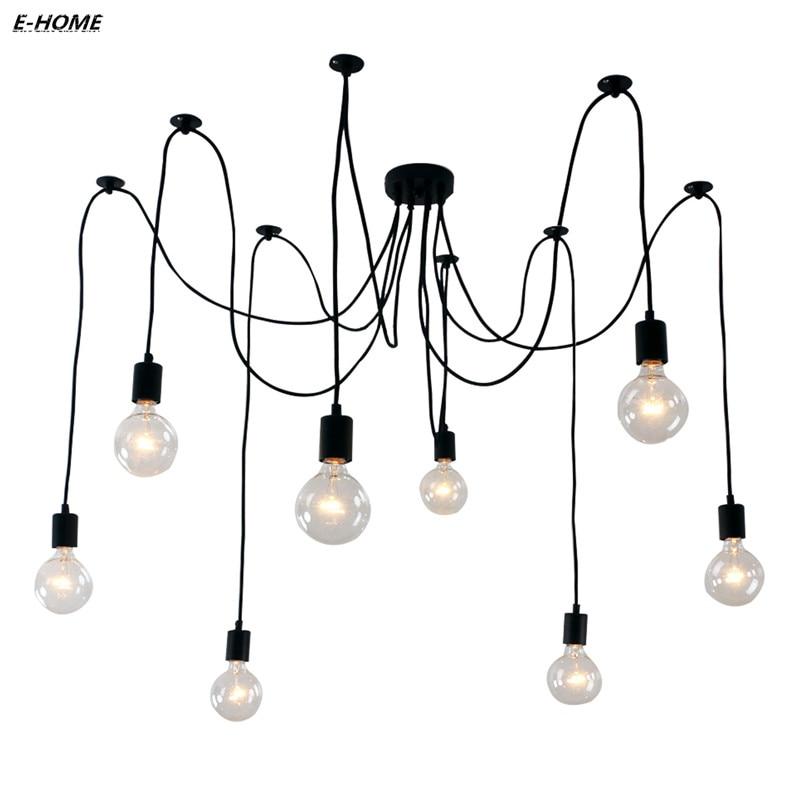Aliexpress Eisen Innen Klassische Spinne Lampe Wohnzimmer Industrie Retro Dachboden Droplight Saugen Leuchte Von Verlsslichen Spider