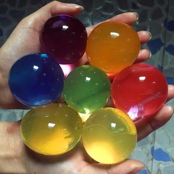7-8 sztuk partia duży kryształ gleby błoto hydrożel żel dzieci dzieci zabawki koraliki wody rosnące Orbiz piłki wodne ślub Home Decor G tanie i dobre opinie