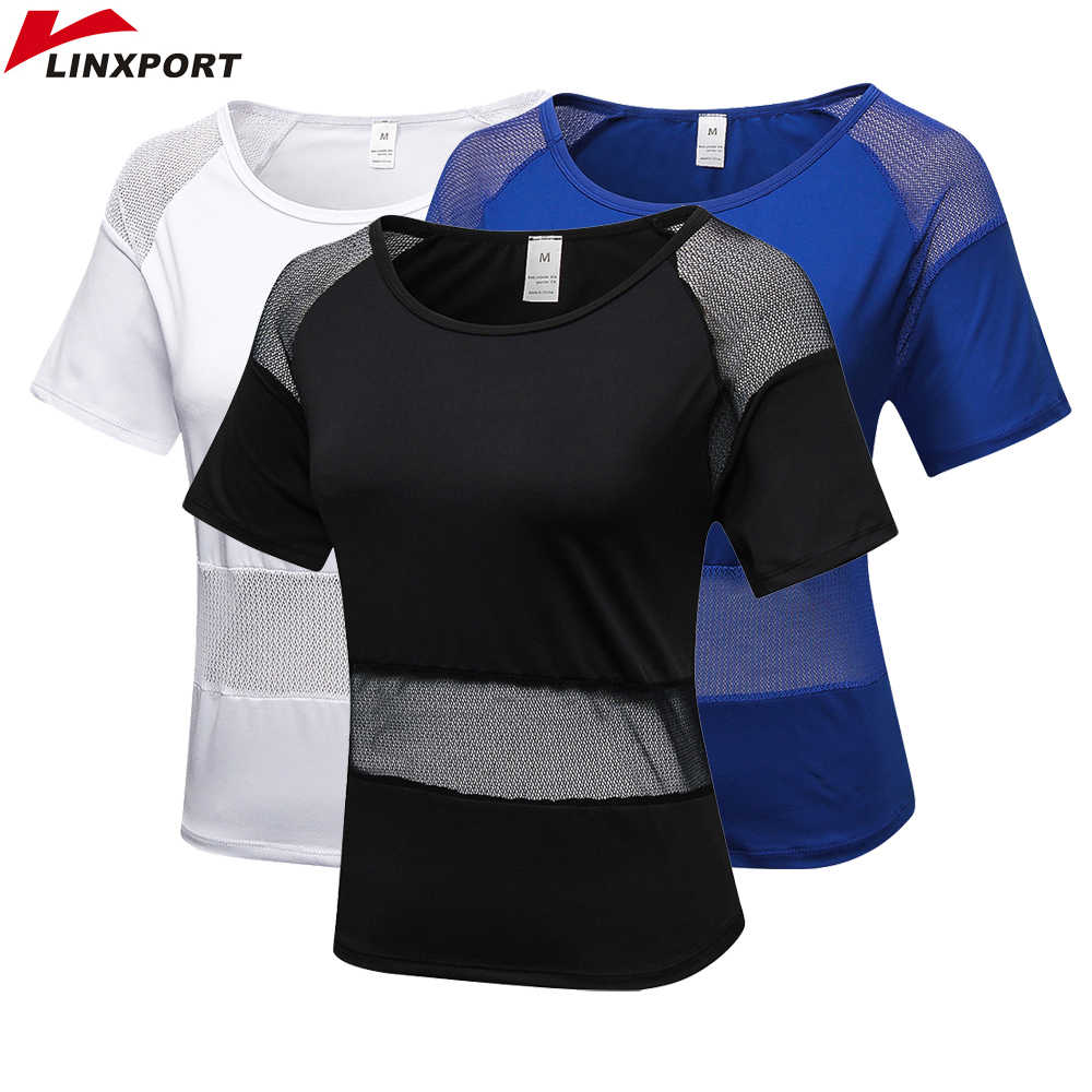 Women's Dry Fit Shirts Elastic Yoga Mesh Sports T Shirt Workout Gym Tights Gym Running Tops Short Sleeve Tees Blouses Sportswear