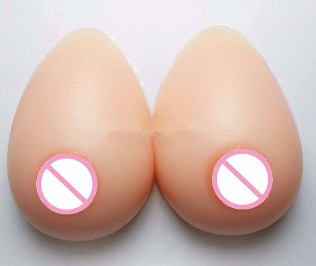 1800g/pair Lifelike Woman Artificial Breast Forms Silicone Boobs Transgender 42DD 44D 46C F Cup Silicone Butt Pads Nipple Cover(China)