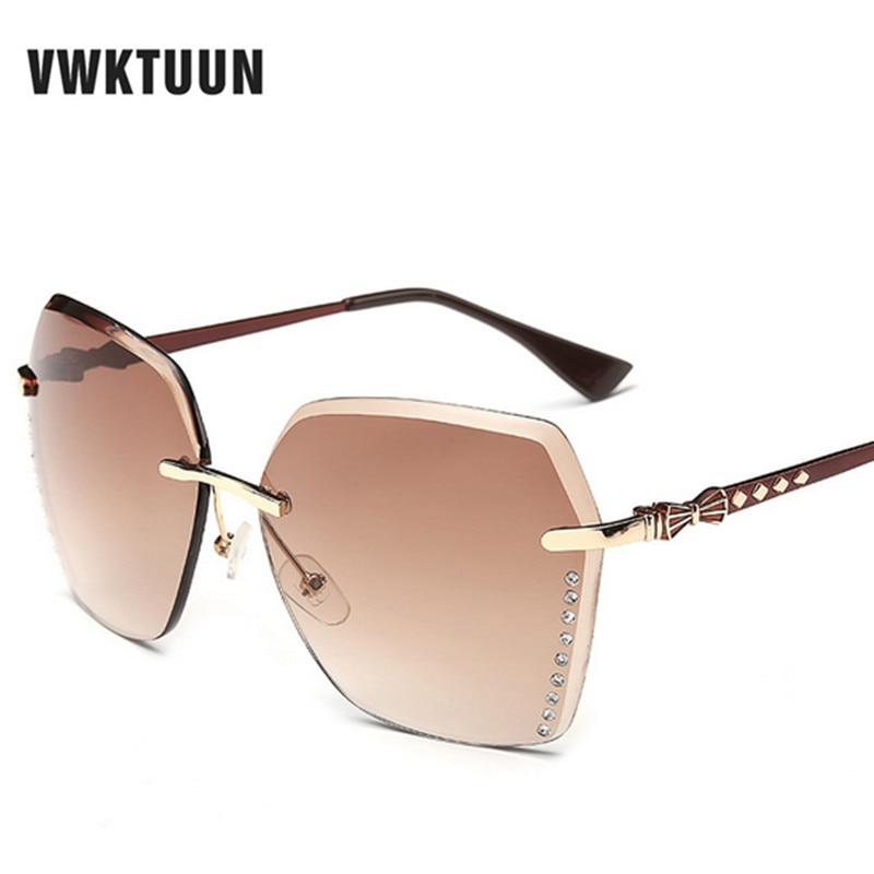 vwktuun gradient sunglasses rimless big frame sun