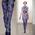 Мода личности чулки элегантный фиолетовый печати утолщение колготки бархат осенью и зимой женщины девушки женщины tighs