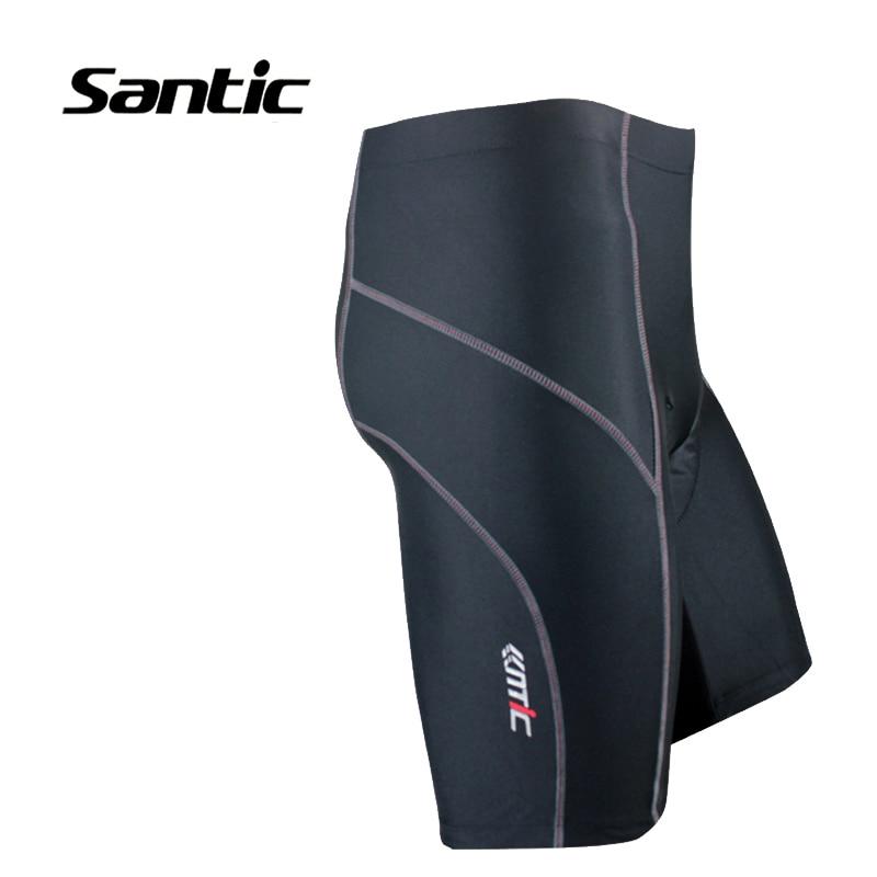 Santic Summer Cycling Shorts Foam Padded Black Basic Style Mens Bike Bicycle Sports Jerseys Cycling bermuda ciclismo MC05042 santic black