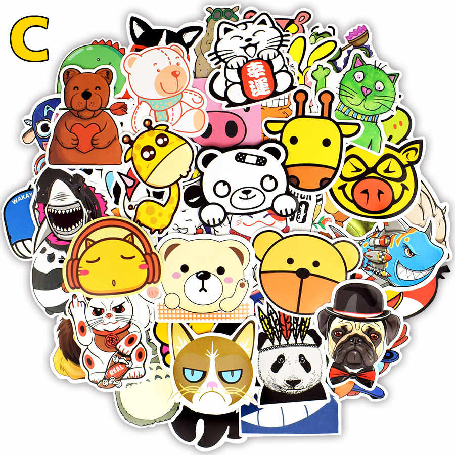 80 100 Pcs Anime Stiker Mainan Untuk Anak Unicorn Flamingo Hewan Gambar Kartun Imut Stiker Untuk DIY Skateboard Koper Laptop Lemari Es