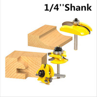 3PC 8mm Shank High Quality Raised Panel Cabinet Door Router Bit Set 3 Bit Woodworking Cutter