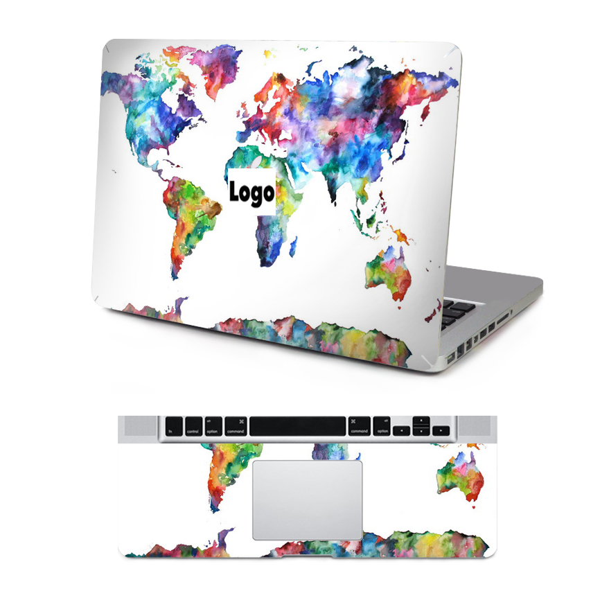 Ycsticker World Map Top Decal Keyboard Rest Vinyl Sticker