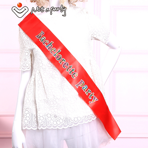 Sister of the bride sash bridesmaid mother of the groom hen bachelorette party  wedding events supplies Karachi
