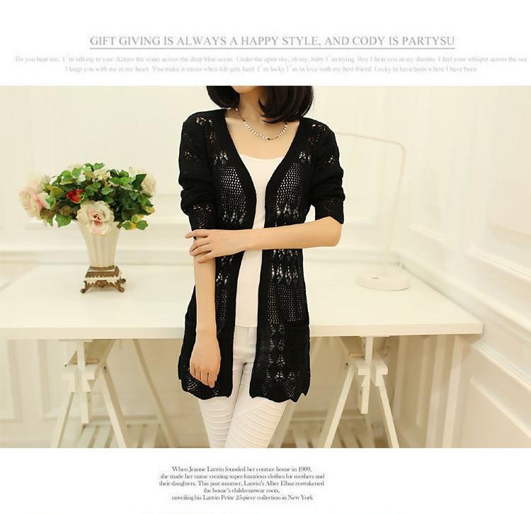 Womens Sweater Spring Jacket Loose Shawl 43