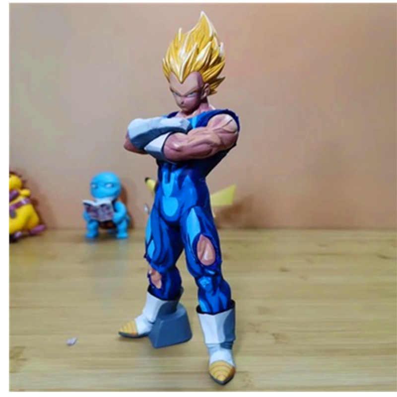 21.5 CENTÍMETROS Dragon Ball Vegeta Encantamento Comic Cor H669 Bonecas Brinquedos Estatueta PVC Action Figure Toy Model Collection