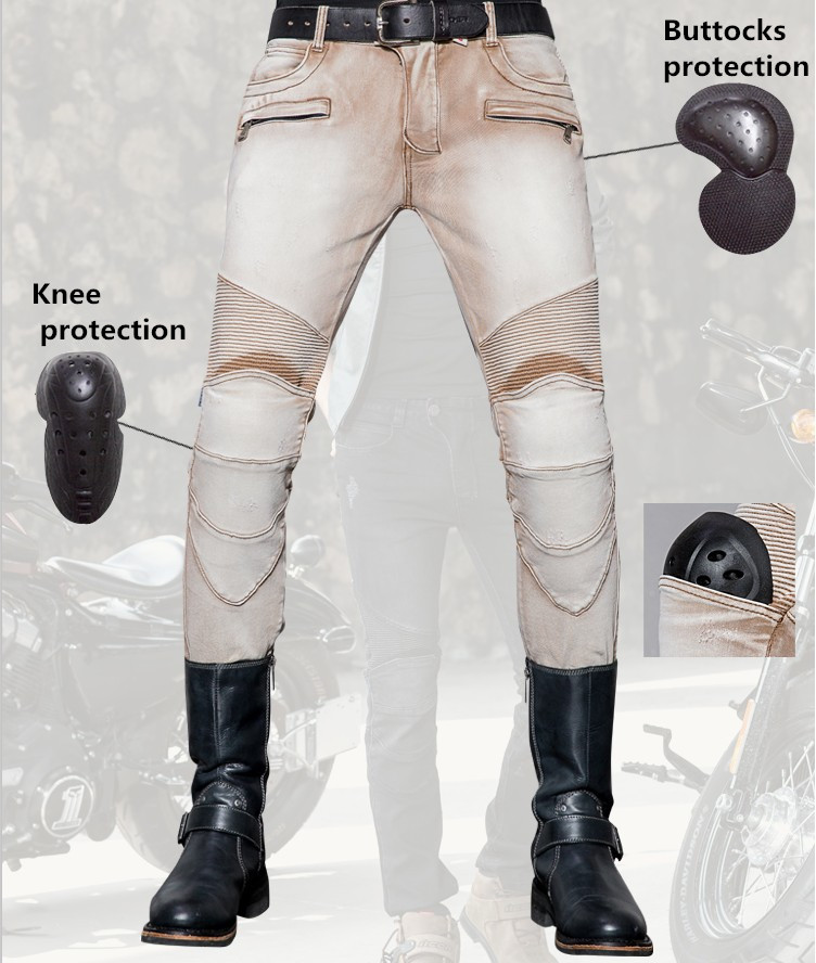 fashion tight uglybrosGuardian UBS018 jeans motorcycle protection knee pants men's MOTO jeans motorcycle pants
