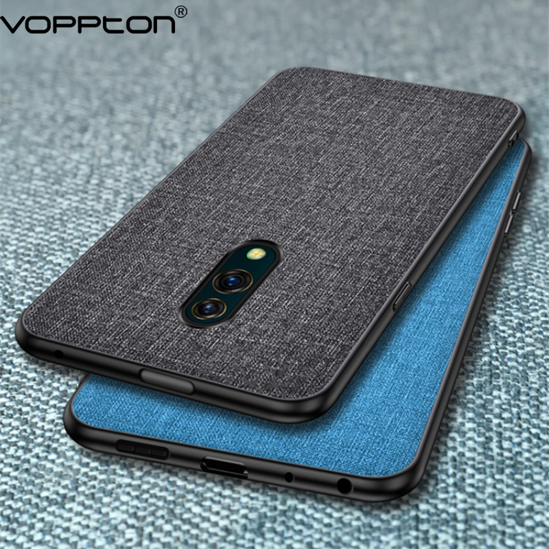 For OPPO K3 Case business Cloth Hard PC Soft TPU Frame Back Cover For OPPO K3 realme x Phone Case Simple Fundas sticker