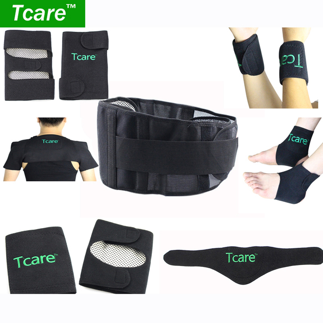 Tcare 7pair/set Tourmaline set self-heating magnetic waist belt kneepad neck ankle support shoulder pad elbow Braces health care