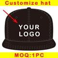 moq 1pc custom baseball cap customize logo design adjustable snapback fast shipping