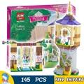 145 шт. Бела 10564 Девушки Принцесса Друзья Рапунцель Лучший День Хлебобулочные DIY 3D Блоки Игрушка Подарок Совместимость С Lego