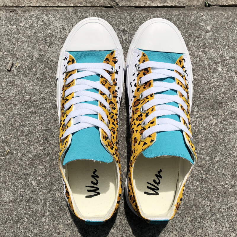 Pintura Pintados Casuais Homens Impressões Leopardos Sapatos Unissex Original Top Grafite Baixo Mão Plana À Desenho Lona Plimsoll Do Wen Sapatilhas OqqwrYE6