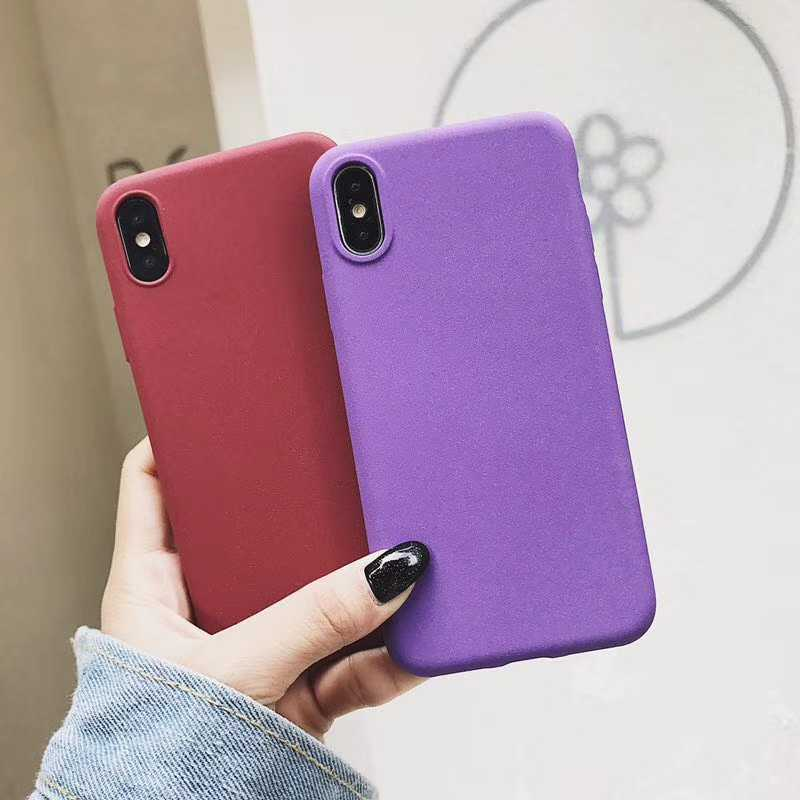 Frosted Rock Sand Texture Matte TPU Phone Cases for iphone X SE 5 5S 6S 6 7 8 Plus Huawei P20 Lite Mate 10 Pro Honor 9 8 Cover