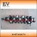 Forged steel S4L S4L2 crankshaft for Mitsubishi engine excavator S4L engine parts