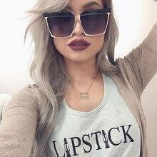 New Fashion Sunglasses Women Big Square Frame Sun Glasses Unique Brand Design Reflective Color Film Lens Hot 2017 Men Glasses