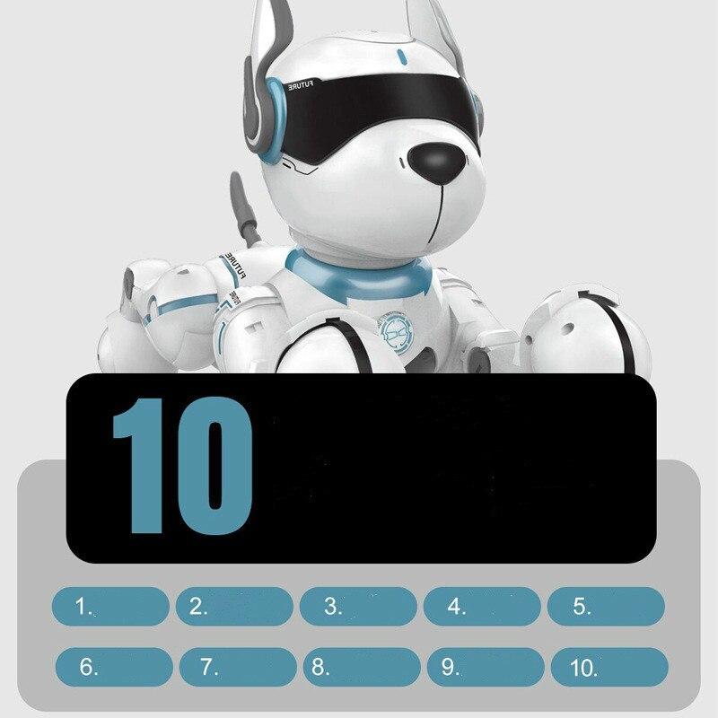 2,4G Control remoto inalámbrico inteligente Robot perro niños juguete inteligente parlante Robot perro juguete electrónico mascota cumpleaños regalo - 2