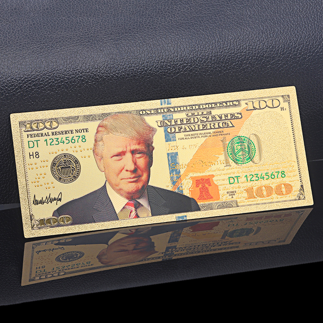 United States Of America Gold999 Banknote Paper Money Usd 100 5 1 Dollar Bill Collection Crafts Trump Headshot